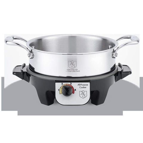 Hammer Stahl 2.5 Quart Utility Pan with Cover & Slow Cooker Base-HSC-14402SC,The Kitchen's Edge.
