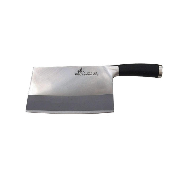 ZHEN Japanese VG-10 3-Layer forged High Carbon Stainless Steel Large Slicer Chopping chef Butcher Knife 8-inch, TPR handle-A1T,The Kitchen's Edge.