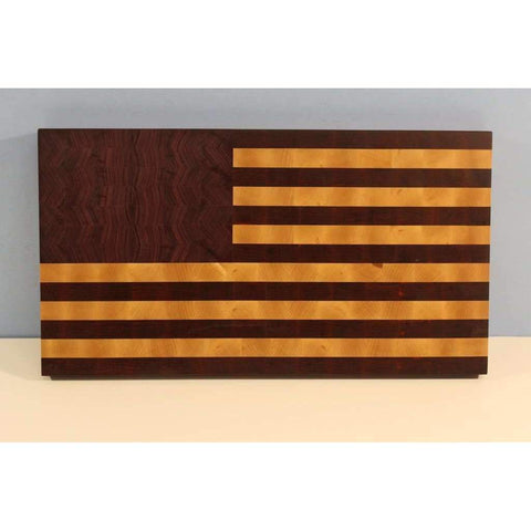 Brooklyn Butcher Blocks American Flag Cutting Board (End Grain)-,The Kitchen's Edge.