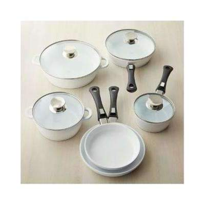 Berndes Vario Click Pearl Ceramic Induction 9 Piece Set -632109W,The Kitchen's Edge.