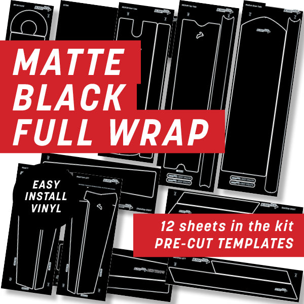 Matte Black Full Wrap Kit