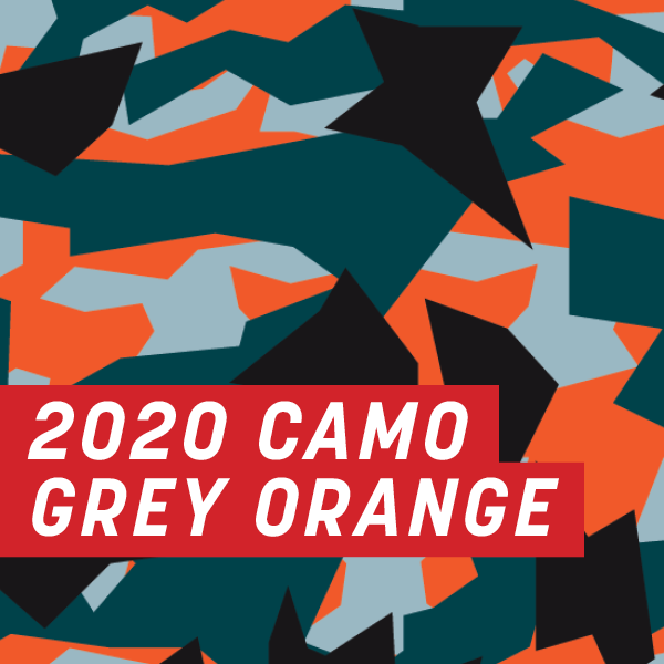 2020 Camo Grey Orange Half Wrap Kit