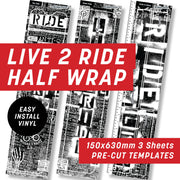 Cycology Live 2 Ride Black Half Wrap Kit