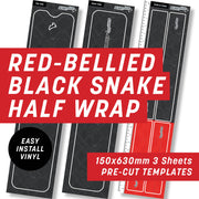 Red-Bellied Black Snake Half Wrap Kit
