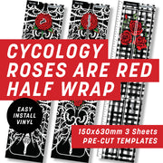 Cycology Roses are Red Half Wrap Kit
