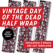 Vintage Day of the Dead Half Wrap Kit