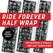Cycology Ride forever Black Half Wrap Kit