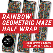 Black Rainbow Geometric Half Wrap Kit
