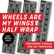 Cycology Wheels are my wings Half Wrap Kit