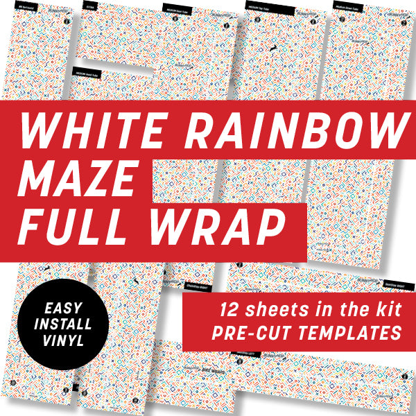 White Rainbow Geometric Full Wrap Kit