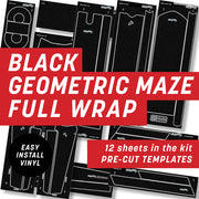 Black Geometric Full Wrap Kit