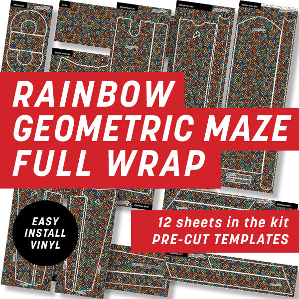 Rainbow Geometric Full Wrap Kit