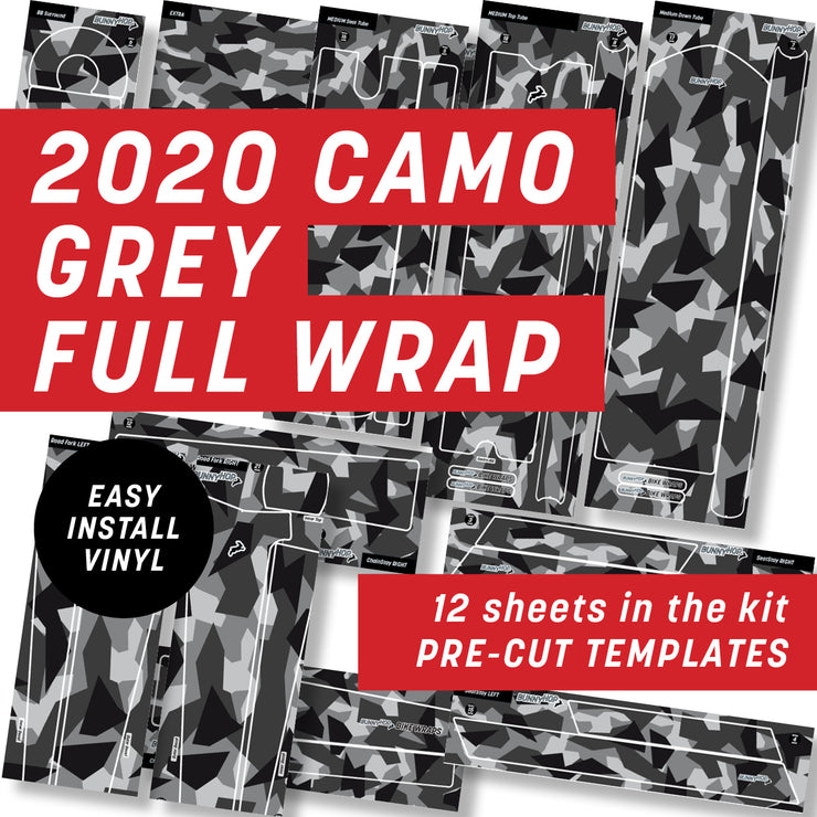 2020 Digital Camo Grey Full Wrap Kit