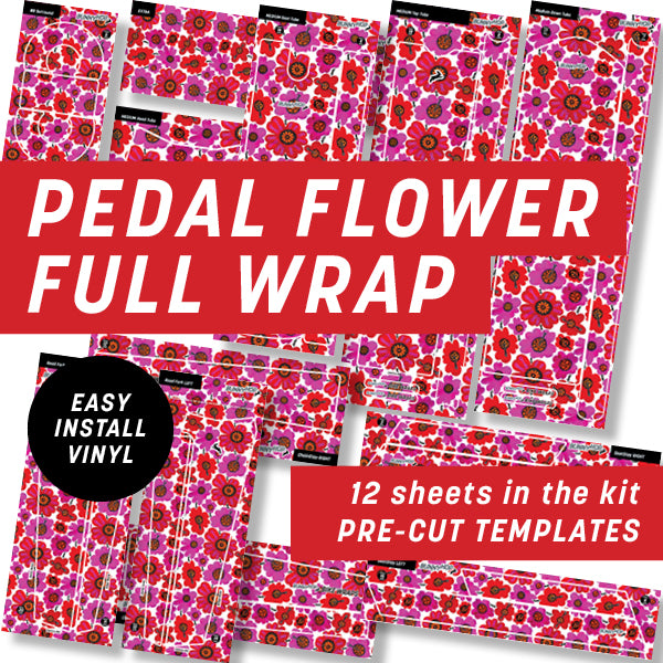 Cycology Pedal Flower Full Wrap Kit