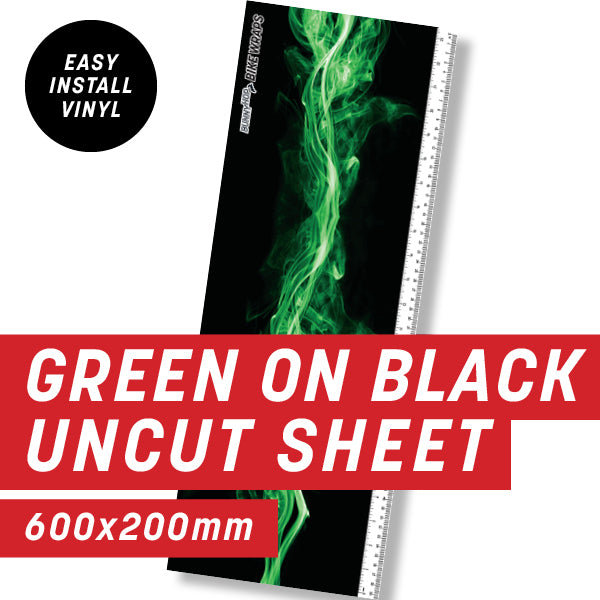 Green on Black Flame Uncut Sheet