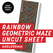 Black Rainbow Geometric Uncut Sheet