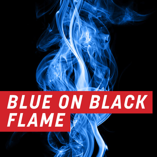 Blue on Black Flame Uncut Sheet