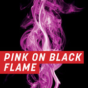 Pink on Black Flame Half Wrap Kit