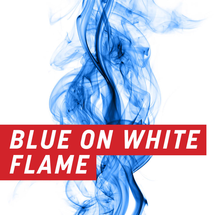 Blue on White Flame Uncut Sheet