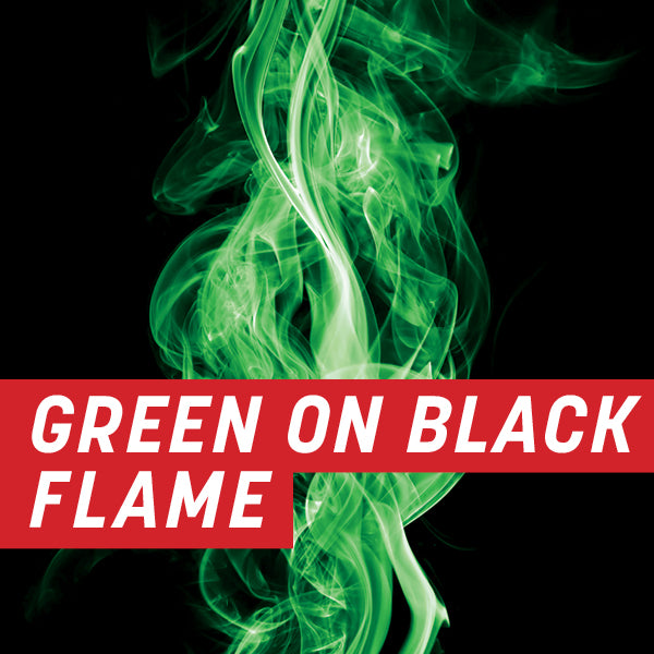 Green on Black Flame Full Wrap Kit