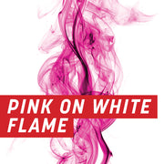Pink on White Flame Uncut Sheet