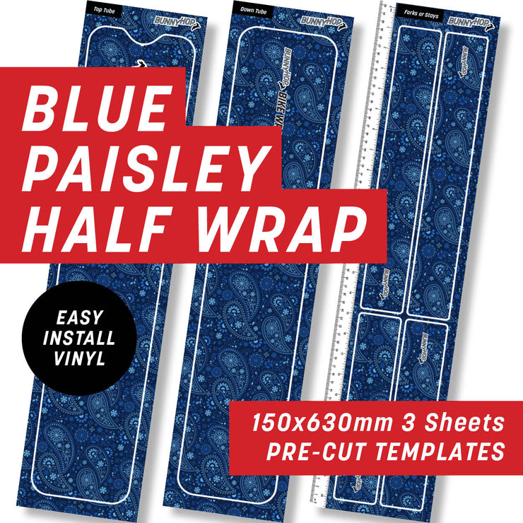 Blue Paisley Half Wrap Kit