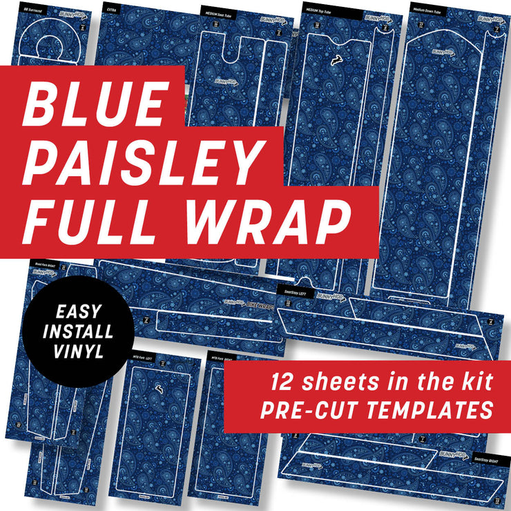 Blue  Paisley Full Wrap Kit