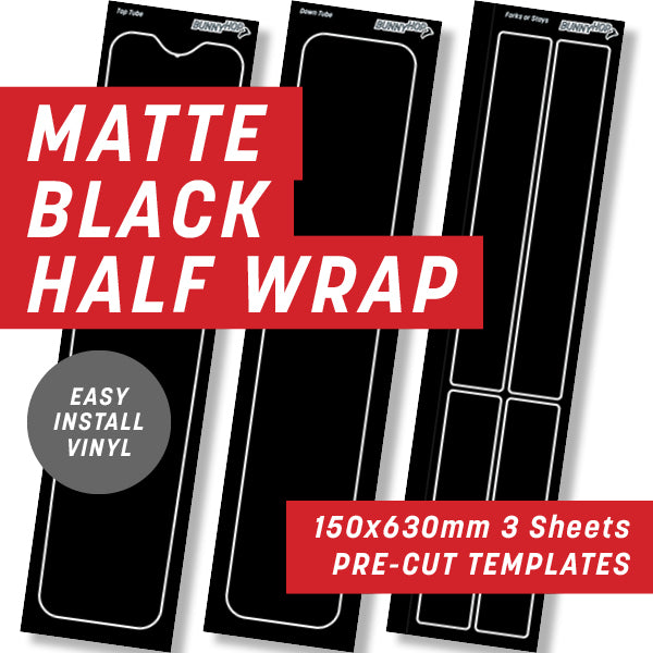 Matte Black Half Wrap Kit