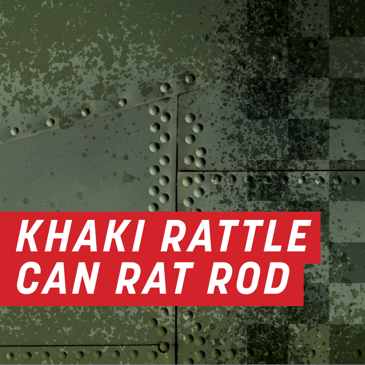 Khaki Rattle Can Rat Rod Full Wrap Kit