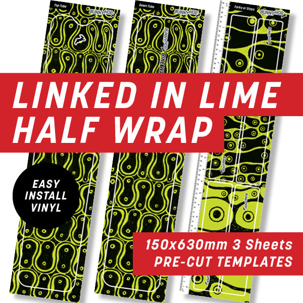 Cycology Linked In Lime Half Wrap Kit