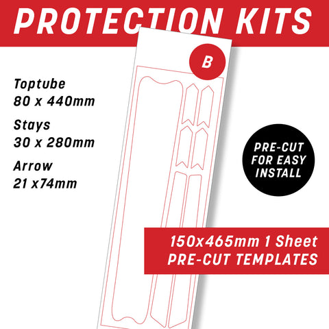B - Individual Bike frame protection kit