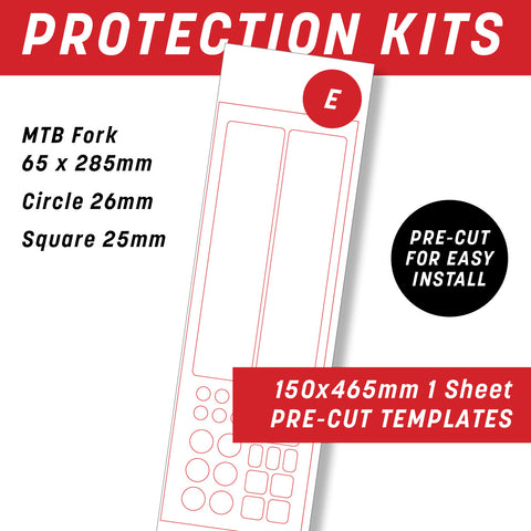 E - Individual Bike frame protection kit