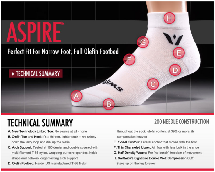 Swiftwick Aspire Seven (Inch) Sock