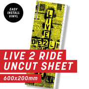 Cycology Live 2 Ride Uncut Sheet