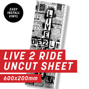 Cycology Live 2 Ride White Uncut Sheet