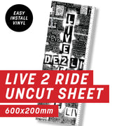 Cycology Live 2 Ride Black Uncut Sheet
