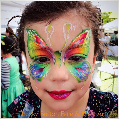 Sarah Asker's Butterfly Face Paint