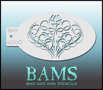 BAM Stencil 4006 Rose Curls - Looney Bin Products