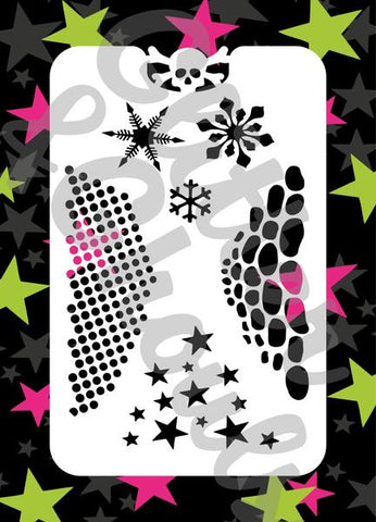 Glitter & Ghouls Stencils ESSENTIALS<br />9 x 14cm - Looney Bin Products