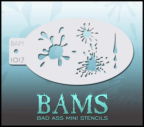 BAM Stencil 1017 Paint Splats - Looney Bin Products