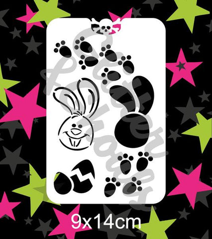 Glitter & Ghouls Stencils EASTER BUNNY TOES 9 x 14cm - Looney Bin Products