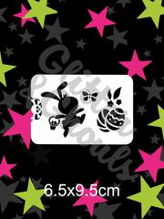Glitter & Ghouls Stencils EASTER HAPPY BUNNY 6.5 x 9.5cm - Looney Bin Products