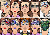 Sparkling Faces Ultimate Face Painting Guide - INTRICATE HALLOWEEN - Milena