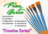"Prima Barton Brushes<br />3/4"" Flat - Looney Bin Products"
