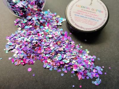 Essential Glitter Balm - UV PURPLE PETALS - Looney Bin Products