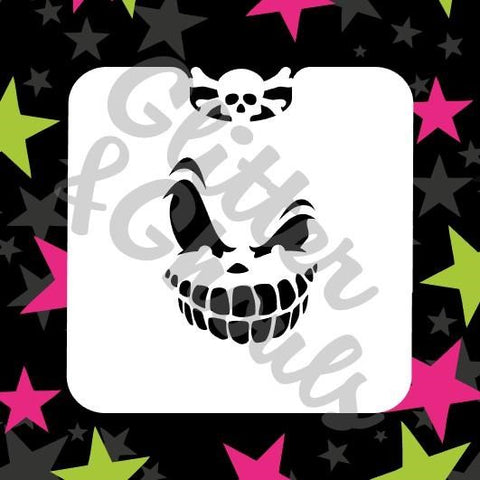 Glitter & Ghouls Stencils SCARY FACE MINI<br />6.5 x 6.5cm - Looney Bin Products