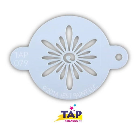 TAP Face Painting Stencil 079 Ornate Sun - Looney Bin Products