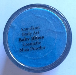 Amerikan Mica Shimmer Powder Baby Blues 30g - Looney Bin Products