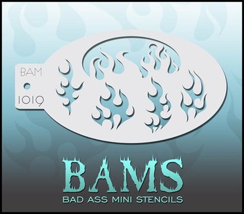 BAM Stencil 1019 Flames - Looney Bin Products