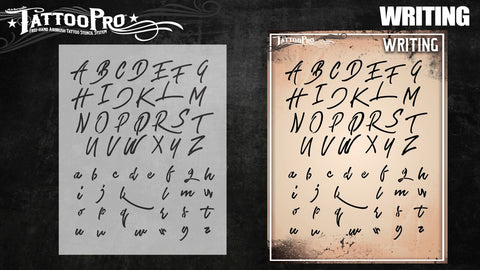 Wiser Tattoo Pro - Writing Font - Looney Bin Products